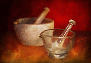 Mortar And Pestle Framed Prints - Pharmacist - Very important tools  Framed Print by Mike Savad