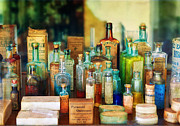 Colorful Bottles Framed Prints - Pharmacist - Whatever ails ya - II Framed Print by Mike Savad