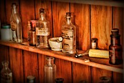Glass Bottles Prints - Pharmacy - A bottle of Poison Print by Paul Ward