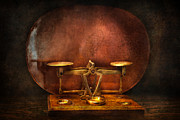 Old Fashioned Metal Prints - Pharmacy - Balancing Act  Metal Print by Mike Savad