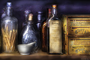 Glass Bottle Metal Prints - Pharmacy - Constipated  Metal Print by Mike Savad