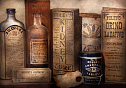 Elixir Prints - Pharmacy - Cures for the Bowels Print by Mike Savad