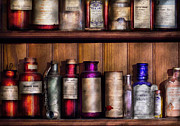 Shelf Posters - Pharmacy - Ingredients of Medicine  Poster by Mike Savad