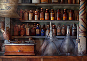 Shelves Photo Prints - Pharmacy - Master of many trades  Print by Mike Savad