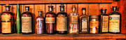 Potions Framed Prints - Pharmacy - Medicine Bottles II Framed Print by Lee Dos Santos