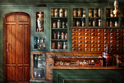 Counter Framed Prints - Pharmacy - Medicine - Pharmaceutical remedies  Framed Print by Mike Savad