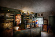 Quaint Photo Prints - Pharmacy - Morning Preparations Print by Mike Savad
