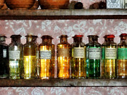 Medicine Bottle Framed Prints - Pharmacy - Old Fashioned Remedies Framed Print by Susan Savad