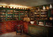 Pharmacist Art - Pharmacy - Patent Medicine  by Mike Savad