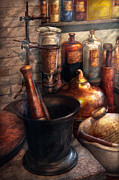 Antique Art - Pharmacy - Pestle - Pharmacology by Mike Savad