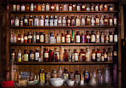 Old Glass Prints - Pharmacy - Pharma-palooza  Print by Mike Savad