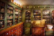 Cabinet Framed Prints - Pharmacy - Room - The dispensary Framed Print by Mike Savad