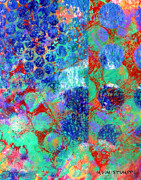 Bright Mixed Media Prints - Phase series - Movement Print by Moon Stumpp