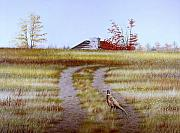 Egg Tempera Prints - Pheasant Country. Print by Conrad Mieschke