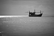 Famous Fish Abstract Prints - Phi Phi island fishing boat Print by Jan Mika