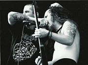 Razorback Photos - Phil Anselmo and Dimebag Darrell by Charles Johnson Jr