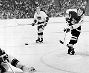 Phil Framed Prints - Phil Esposito in action Framed Print by Sanely Great