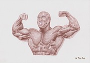 Warren Drawings Acrylic Prints - Phil Heath Acrylic Print by Toni Jaso