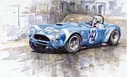 Phil Hill Ac Cobra-ford Targa Florio 1964 Print by Yuriy Shevchuk