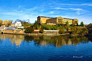 """schuylkill River""  Prints - Philadelphia Art Museum  2009 Print by Bill Cannon"