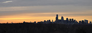 Philadelphia Prints - Philadelphia at Dawn Panorama Print by Bill Cannon