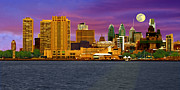 Waterfront Pyrography - Philadelphia At Dusk by Harry Lamb