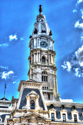 Philadelphia City Hall Framed Prints - Philadelphia City Hall 1 Framed Print by Constantin Raducan