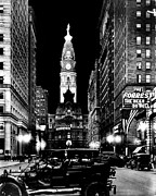 City Hall Prints - Philadelphia City Hall 1916 Print by Benjamin Yeager