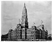 City Hall Prints - Philadelphia City Hall Print by Benjamin Yeager