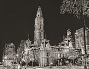 Philadelphia Photo Prints - Philadelphia City Hall Mono Print by Nick Zelinsky