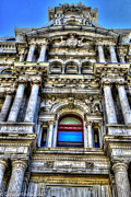 Philadelphia City Hall Framed Prints - Philadelphia City Hall North Facade 1 Framed Print by Constantin Raducan