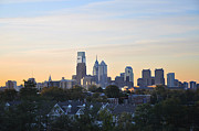 Philadelphia Prints - Philadelphia Cityscape in the Morning Print by Bill Cannon
