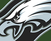 Silver Mixed Media Posters - Philadelphia Eagles Football Poster by Tony Rubino