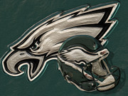 Pro Football Metal Prints - Philadelphia Eagles Metal Print by Jack Zulli