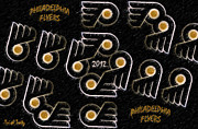 Philadelphia Flyers Prints - Philadelphia Flyers - 2012 Print by Trish Tritz
