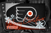 Flyers Hockey Framed Prints - Philadelphia Flyers Christmas Framed Print by Joe Hamilton