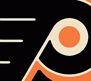 Logo Paintings - Philadelphia Flyers by Tony Rubino