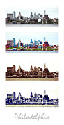 Skylines Framed Prints - Philadelphia Four Seasons Framed Print by Olivier Le Queinec