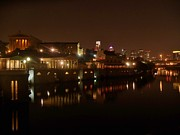 Philadelphia Flyers Photos - Philadelphia from the Schuykill by Ed Sweeney
