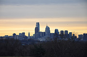 Philadelphia Digital Art Metal Prints - Philadelphia in the Morning  Metal Print by Bill Cannon