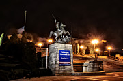 Philadelphia Museum Of Art Prints - Philadelphia Museum of Art at Night - East Entrance Print by Bill Cannon