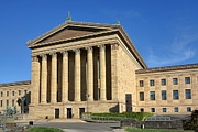 Art Museum Photo Prints - Philadelphia Museum of Art Rear Facade Print by Olivier Le Queinec