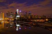 Schuylkill Prints - Philadelphia on the Schuylkill at Night Print by Bill Cannon