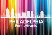 Philadelphia Mixed Media Metal Prints - Philadelphia PA 2 Metal Print by Angelina Vick