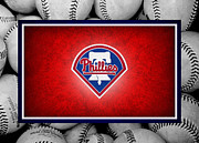 Baseball Bat Metal Prints - Philadelphia Philles Metal Print by Joe Hamilton