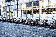 Philadelphia Photo Prints - Philadelphia Police Motorcycles Print by Bill Cannon