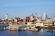 Philadelphia Digital Art Metal Prints - Philadelphia River View Metal Print by Bill Cannon