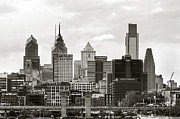 Philadelphia Skyline Digital Art Prints - Philadelphia Skyline Print by Rich Walker