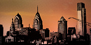 Philadelphia Prints - Philadelphia Skyscrapers Print by Bill Cannon