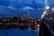 Parapet Prints - Philadelphia Twilight Print by Jennifer Lyon